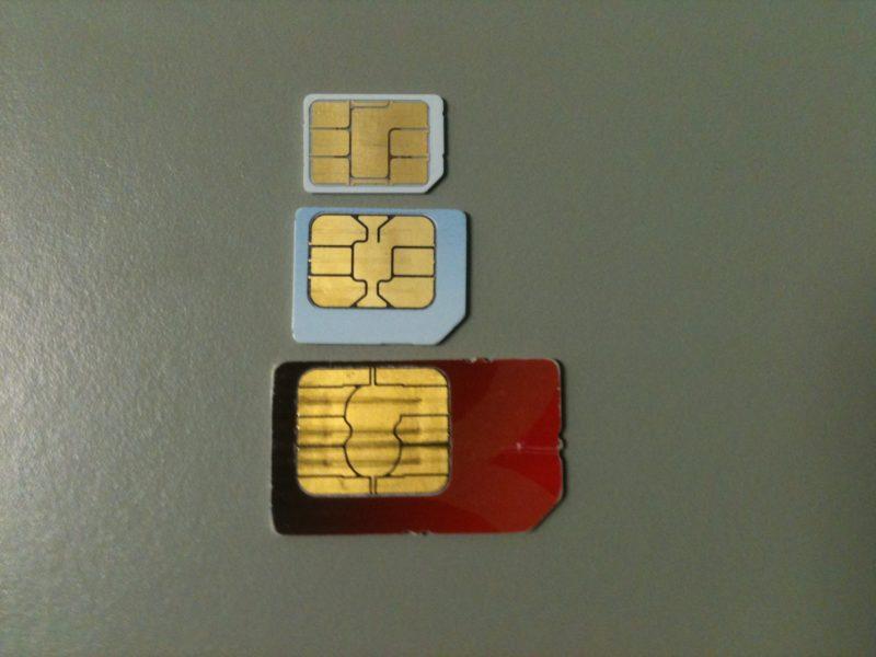 Die verschiedenen Größen und Namen der SIM Karten