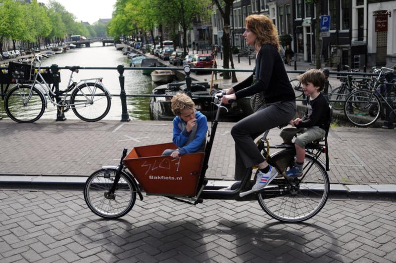 Das Lastenfahrrad Mobil und sportlich