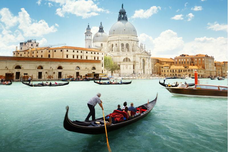 Wasserstraßen in Venedig