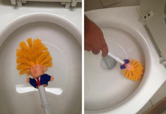 Die Trump Klobürste – das beliebte Toiletten-Accessoire