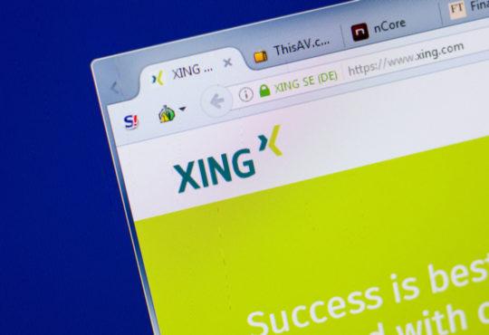 Stellensuche mit Xing