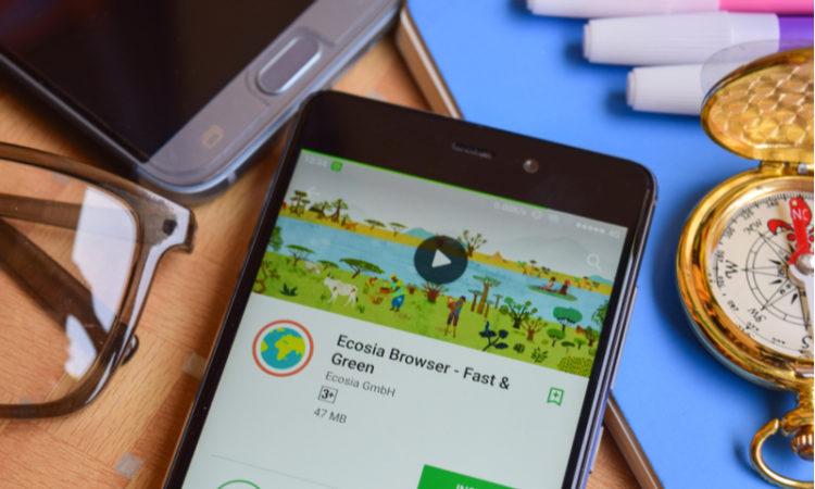 Die Suchmaschine Ecosia