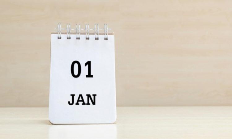 Kalender mit 1. Januar als Symbol für Neujahrsvorsätze